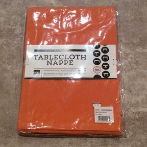 "Spectrum 55x55"" orange tablecloth"